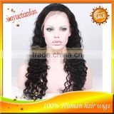 Wholesale 5A Grade High Qualty 100%Brazilian Virgin Deep Wave Human Hair Full Lace Front Wigs In Stock