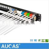 Factory Supply UTP Cat 6 24 Ports Patch Panel Use For Network Cabinets and Telecommunication Cable