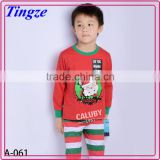Wholesale hot selling latest fashion cotton children pajamas christmas santa claus baby clothes