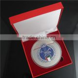 Red Gift Box with Foam Insert / Plastic Gift Packing Box with Paper Claded / Plastic Gift Box for Coins