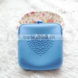 Lovely Silicone Purse Wallet Pouch Glasses Cellphone Cosmetic Big Coin Bag Case with Belt