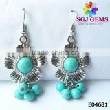 Cheap Fashion Jewellery Synthetic Turquoise Earrings Vintage Jewelry