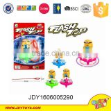 Plastic cute flash laser top ,promotion magic party cartoon gift,kids fun play game light up toys