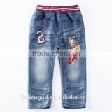 baby clothes wholesale NOVA design kids funny printed pattern denim pants baby boy long jeans children cowboy trousers