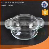 Glass pot for cooking glass soup&stock pot with lid glass cookware                                                                         Quality Choice