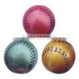 lacquer rubber baseball,shine colour rubber high bounce sport ball for promotion products
