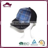 China product blue and black snapback baseball cap for boys