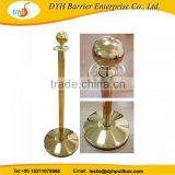 gold finish rope stanchion,crowd control rope and post stanchions,stanchions rope velvet