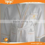 European hotel waffle cotton bathrobe with reactive printed hotel logo