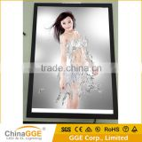 LED aluminum frame illuminated advertising board poster display lighting photo frame slim edge lit light box