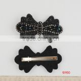 Hair Barrette with glass beads and rhinestone