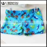 Hot Sale Cheap High Quality Tie Lattice Multicolor Cute Baby Boy Swim Trunks