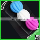 Newest design colorful pe mesh bath sponge,body bath sponge wholesale