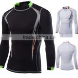 Men's Casual O-Neck Gym long sleeved fitness Training Moisture wicking quick-drying shirts