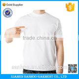 High Quality 180grams 100% Cotton Mens Plain Blank White Tshirts Custom Logo Printing OEM service