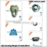 highly cored aluminum sand castings OEM China casting foundry for auto, pump, valve,railwayd custom work fr