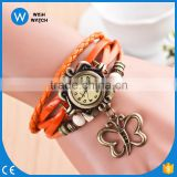 2016 Quality relogio New China Cheaper Women Genuine Leather Vintage Watches Bracelet Wristwatches Relogio feminino VW025
