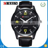 CURREN/CW031 Fashion Curren Men's Leather Strap Quartz Watches Top Brand Luxury Leather Wristwatches Relogio Men Curren