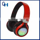 2015 HIGI new model 3.5mm LED Flash Light Earphone Headphone Headset for Mobile MP3/4 iphone 4S/5