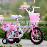 2016 new design kids bike with training wheels 12inch with rear carrier children bicycle