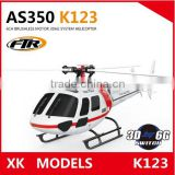 XK K123 6CH 3D6G system Flybareless 3 Blades brushless motor helicopter With Long Battery Life