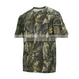 2015 Camo Hunting Latest Shirt Designs for Men Quick Dry Custom T-Shirt