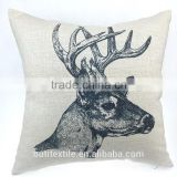 Deer Print Cushion Cover Square Throw Pillow Case Decorative Throw pillow Cover for sofa