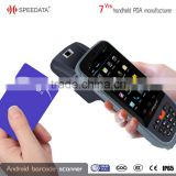 Quad-core 1.3 Ghz CPU Processor in android biometric fingerprint scanner with NFC reader factory direct price