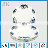 Wholesale ceramic dinner plate bone china with rose design