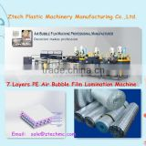 Good quality most popular 7 layers aluminum-foil laminating bubble film machine (double screw) ZT120-7S
