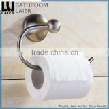 Customized Unique And Versatile Zinc Alloy Brush Nicked Bathroom Sanitary Items Wall Mounted Toilet Paper Holder