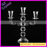 Elegant wedding centerpiece candle holder 3 arms crystal candelabra