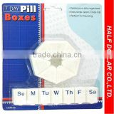 2PCS Pill Case,Portable Weekly /7 Days Pill Boxes,Promotional Pocket Pill Box,Plastic Pill Case
