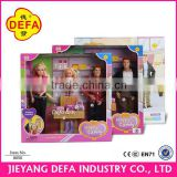 Chidren Family style handsome father fashion mother and lovely child together family plastic doll