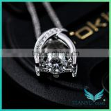 perfect luxury quality 0.20 carat g color vs1 round loose diamond synthetic moissanite necklaces