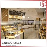 Chinese factory produce bakery furniture wood bread display stand