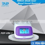 vascular removal 980nm diode laser spider vein removal machine with good treatment result Blood vessel removal 980nm