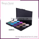 15color eye shadow pallets make up box,full face powder makeup palette