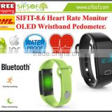 SIFIT-8.6 New Wristband Pedometer Waterproof, Steps Counter Acitvity Tracker, Heart Rate Monitoring
