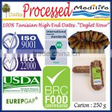 "Tunisian High Quality Dates ""Deglet Noor"" Category, Processed Dates Healthy Fruit Products, Fresh Dates Fruit, 250 g"