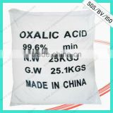 CIQ/SGS Certificated White Crystal Powder 99.6%min Oxalic Acid Dihydrate In Dying And Printing Industry