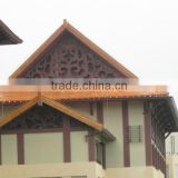 Made customized Chinese traditional building glazed concrete roof tiles used in gazebo roof material