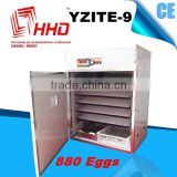 HHD professional solar Full automatic best price chicken, duck, quail egg incubation machine for sale YZITE-9 CE approved