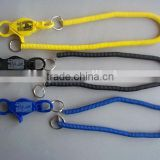 30'' colorful high strength split ring bungee cord lanyard