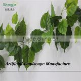 SJZJN 2572 New arrival artificial ceiling hanging vine decorative green silk leave vines