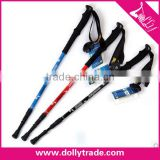 Carbon Fiber Lightweight Hiking Alpenstock,OEM Walking Stick For Safety,EVA Handle Trekking Pole