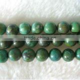 8mm round loose natural green turquoise strand