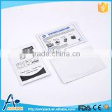 Competitive printable pvc smart atm cleaning card for credit card readers thermal printers
