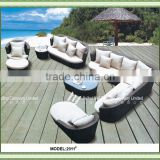rattan garden furniture outdoor furniture hotel furniture with aluminum frame