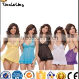 Wholesale lingerie short sexy nighty women sexy see through lingerie manufactuer babydoll